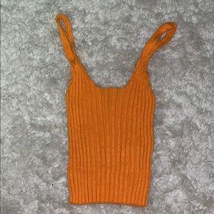 Forever 21 orange  stretchy crop top